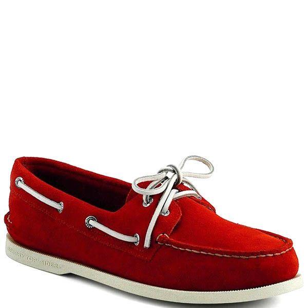 Топсайдеры Sperry мужские замшевые красного цвета