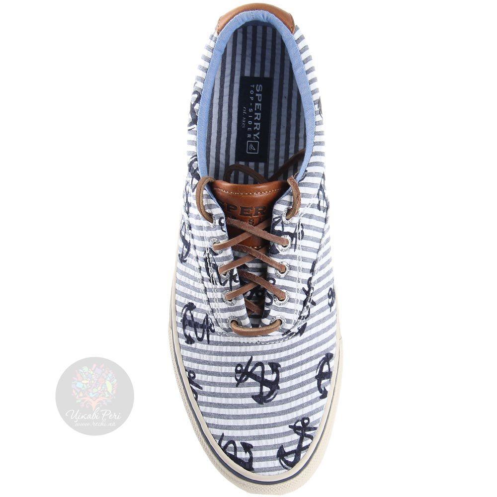 Туфли Sperry мужские спортивные с якорями