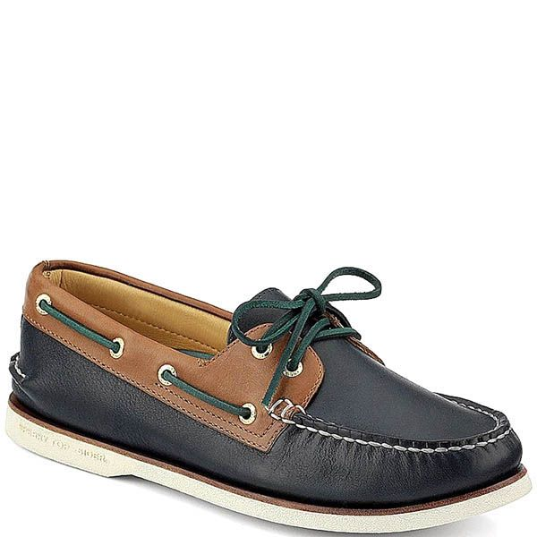 Топсайдеры Sperry мужские серого цвета с зелеными шнурками