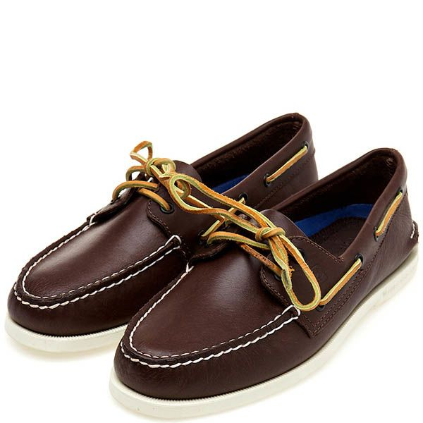 Топсайдеры Sperry Top-Sider A/O 2-EYE кожаные классического коричневого цвета
