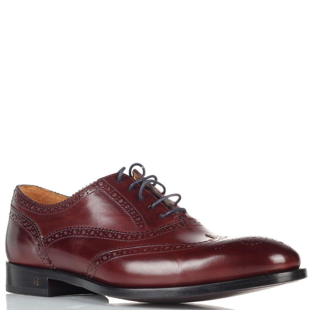 Мужские туфли-броги Paul Smith коричневого цвета