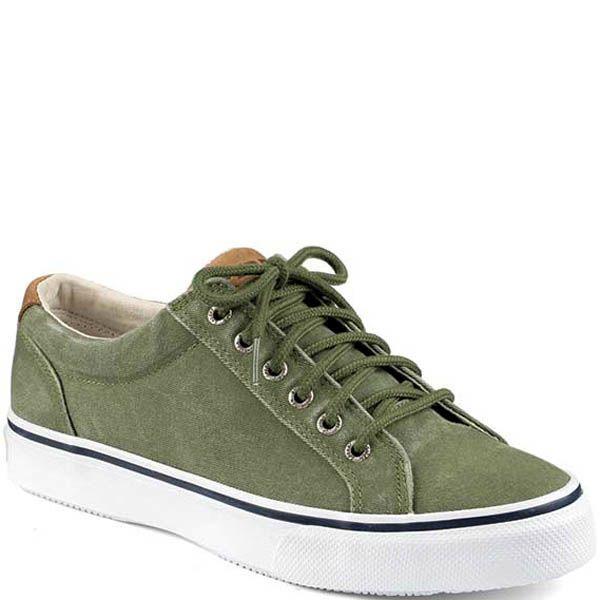 Кеды Sperry мужские зеленого цвета