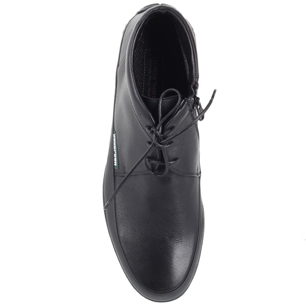 Зимние ботинки Pakerson из кожи черного цвета на шнуровке