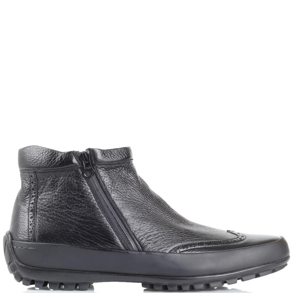 Зимние ботинки-броги Pakerson с перфорацией