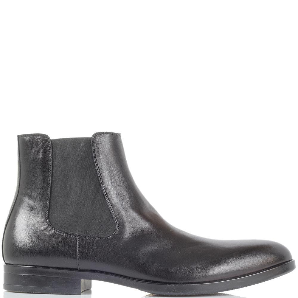 Черные кожаные ботинки-челси Giovanni Conti на молнии и резинках