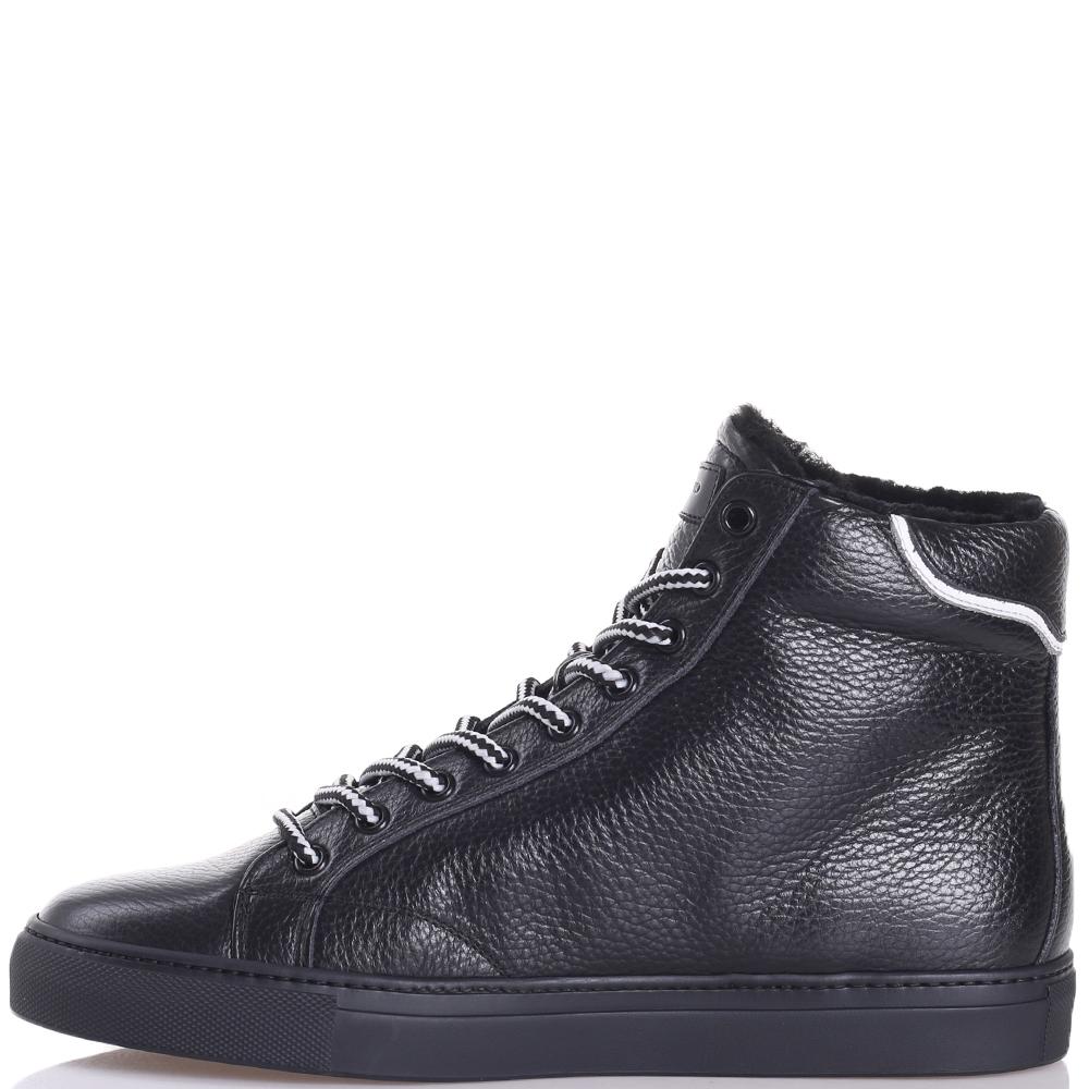 Ботинки John Galliano с черно-белыми шнурками