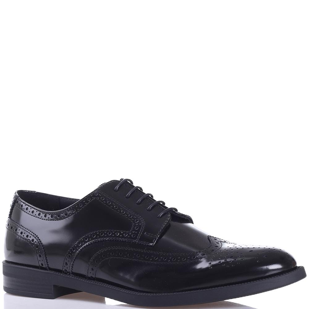 Туфли-броги Emporio Armani черного цвета