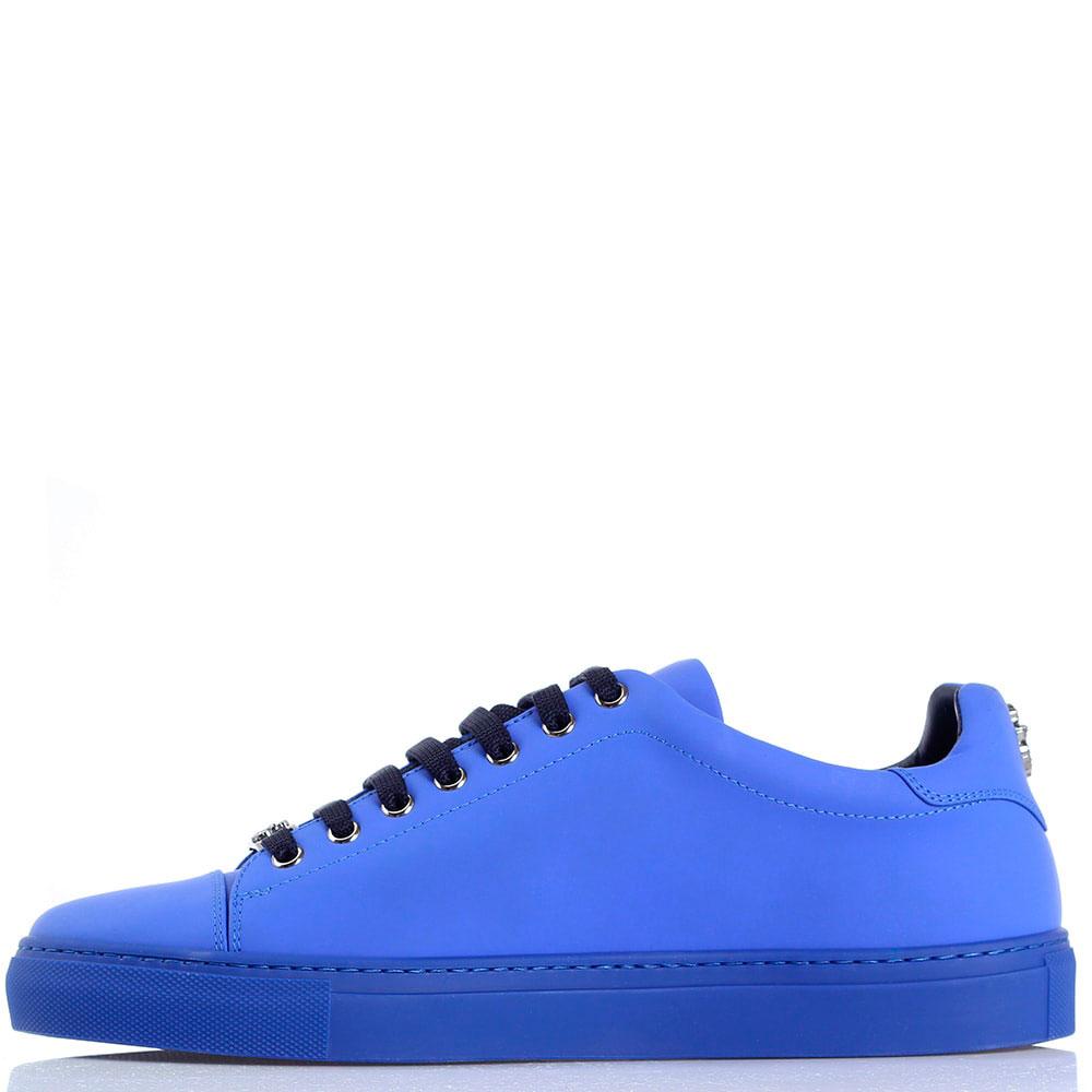 Синие кеды из кожи Billionaire