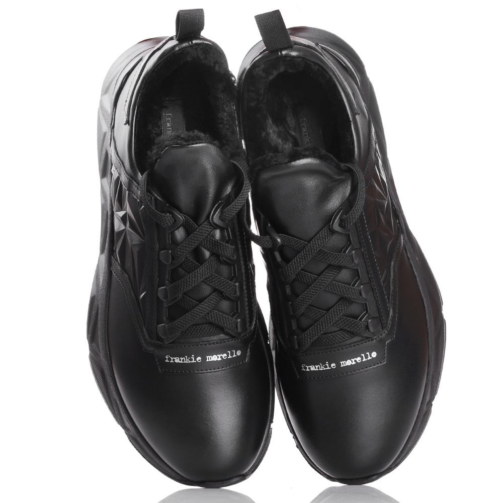 Черные кроссовки Frankie Morello с рельефной подошвой