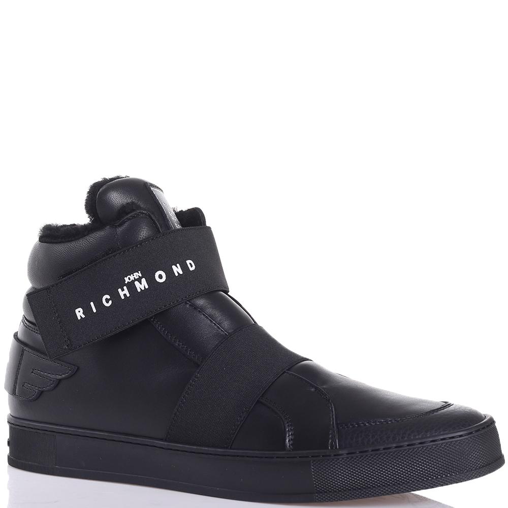 Ботинки John Richmond черного цвета на липучке