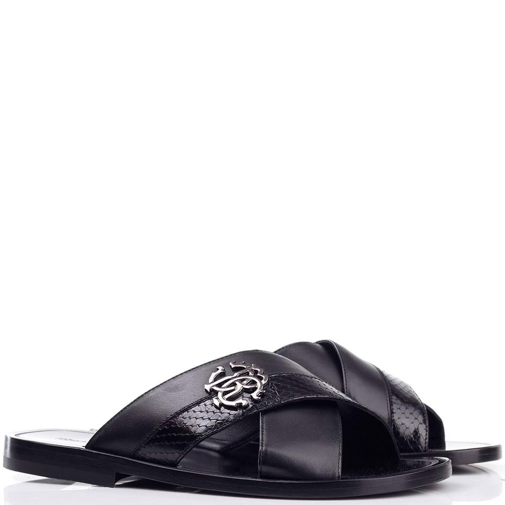 Шлепанцы Roberto Cavalli черного цвета