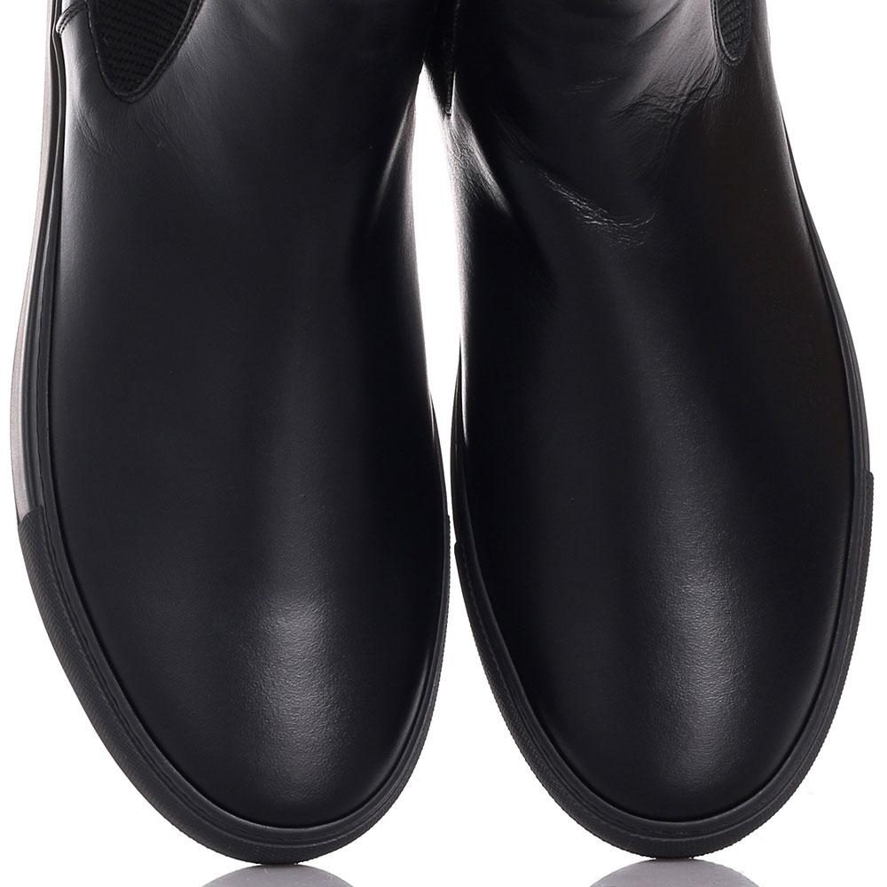Челси Roberto Cavalli из гладкой кожи черного цвета