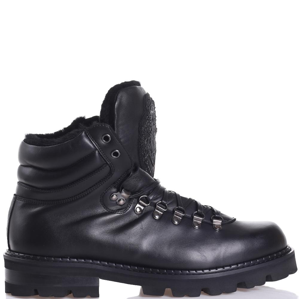 Зимние ботинки Roberto Cavalli из гладкой кожи