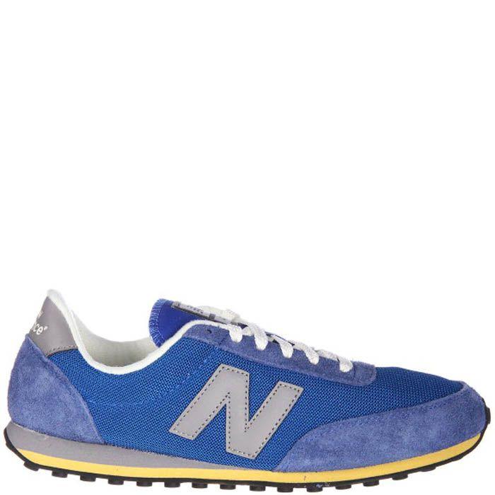 Кроссовки New Balance U410HB голубые с замшевыми вставками