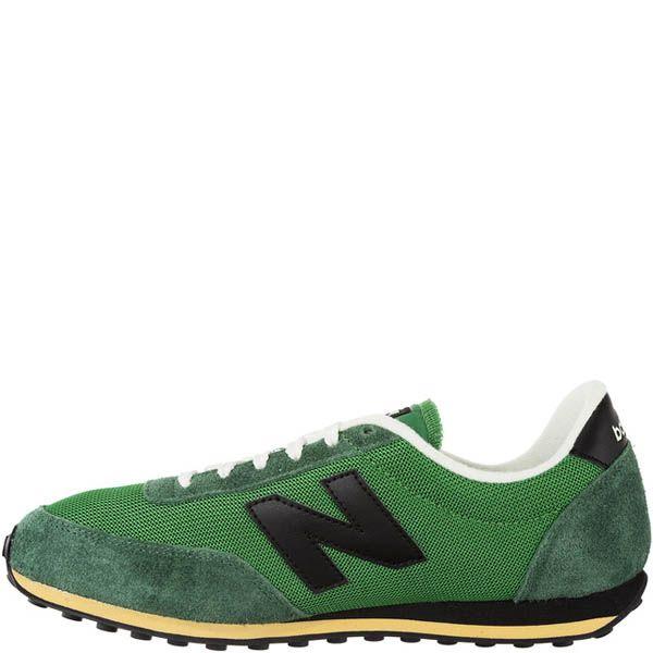 Кроссовки New Balance U410H зеленые с замшевыми вставками