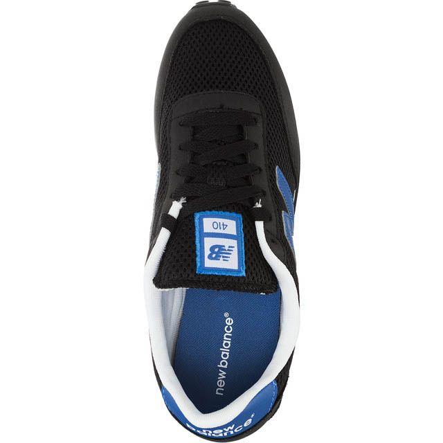 Кроссовки New Balance U410M мужские черного цвета с синими вставками