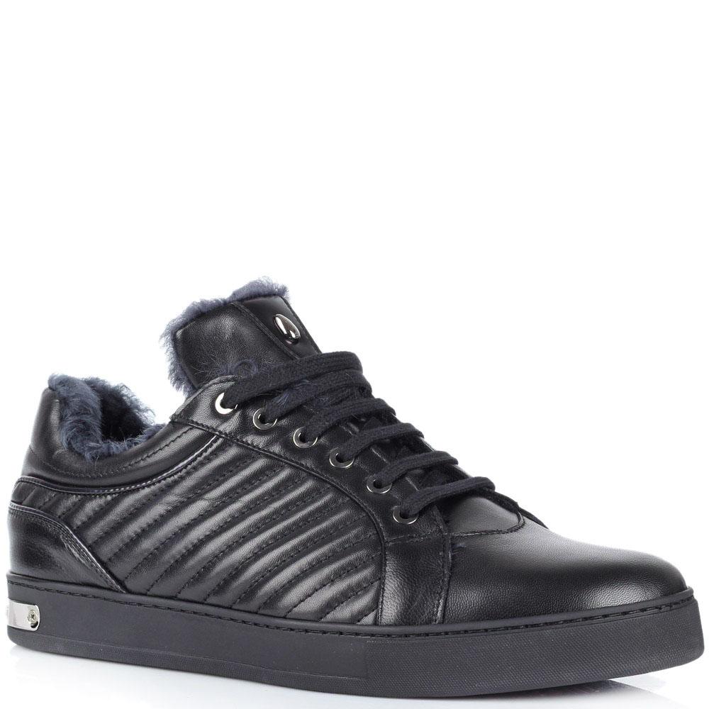Зимние мужские кроссовки Roberto Botticelli Limited черного цвета