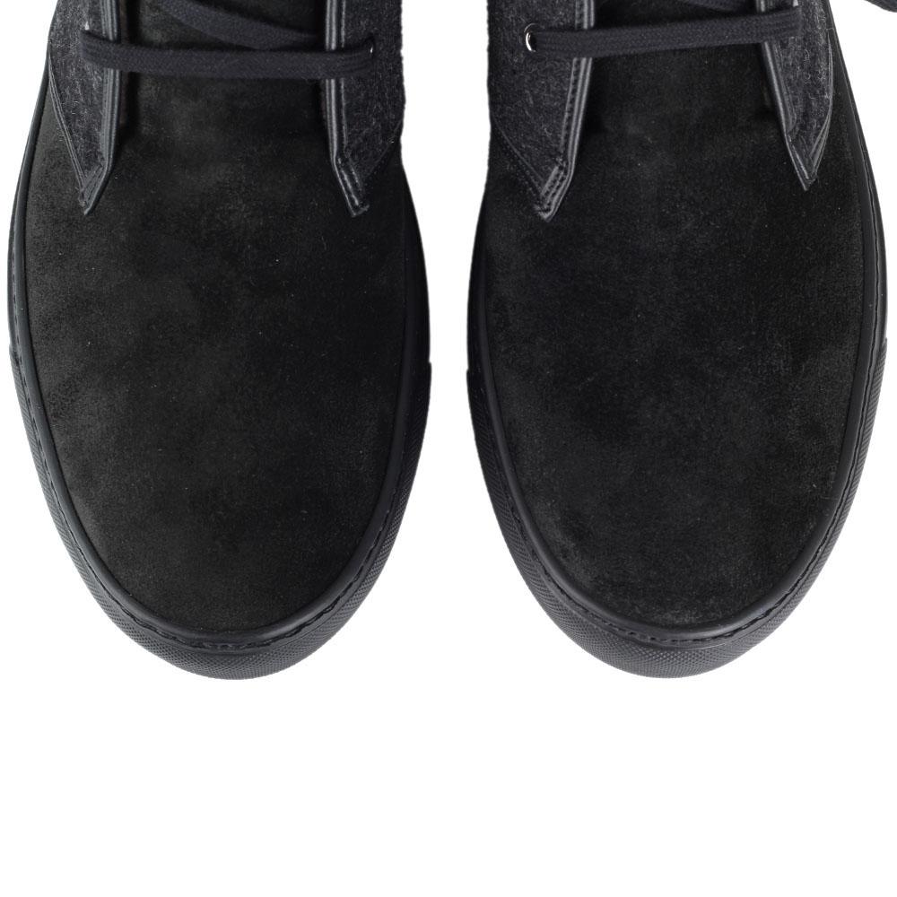 Зимние ботинки Fabi из натуральной замши со вставками из текстиля