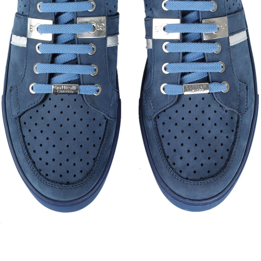 e27c1a3c Замшевые кеды с перфорацией Roberto Botticelli Limitedi голубого цвета