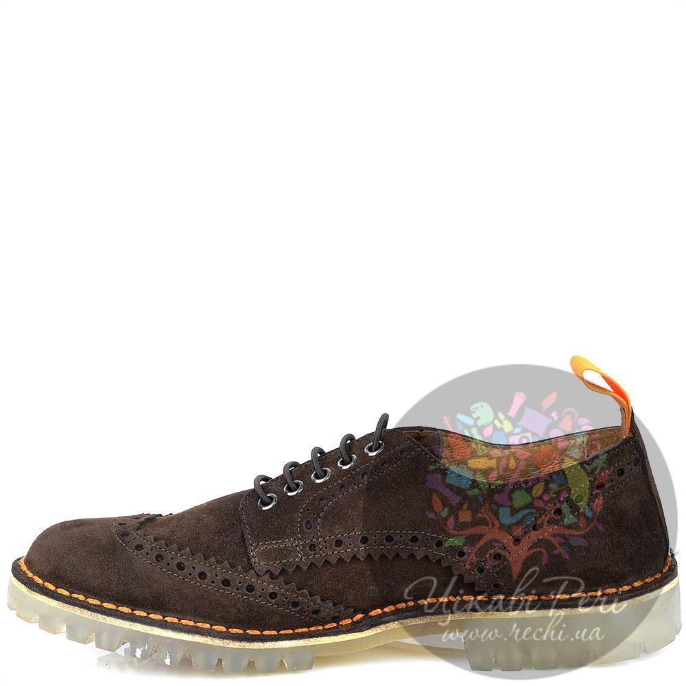 Туфли W6YZ из коричневой замши на протекторной подошве