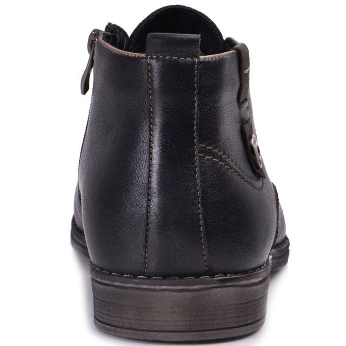 Ботинки зимние Lucky Choice с коричневой подошвой и металлической декоративной кнопкой