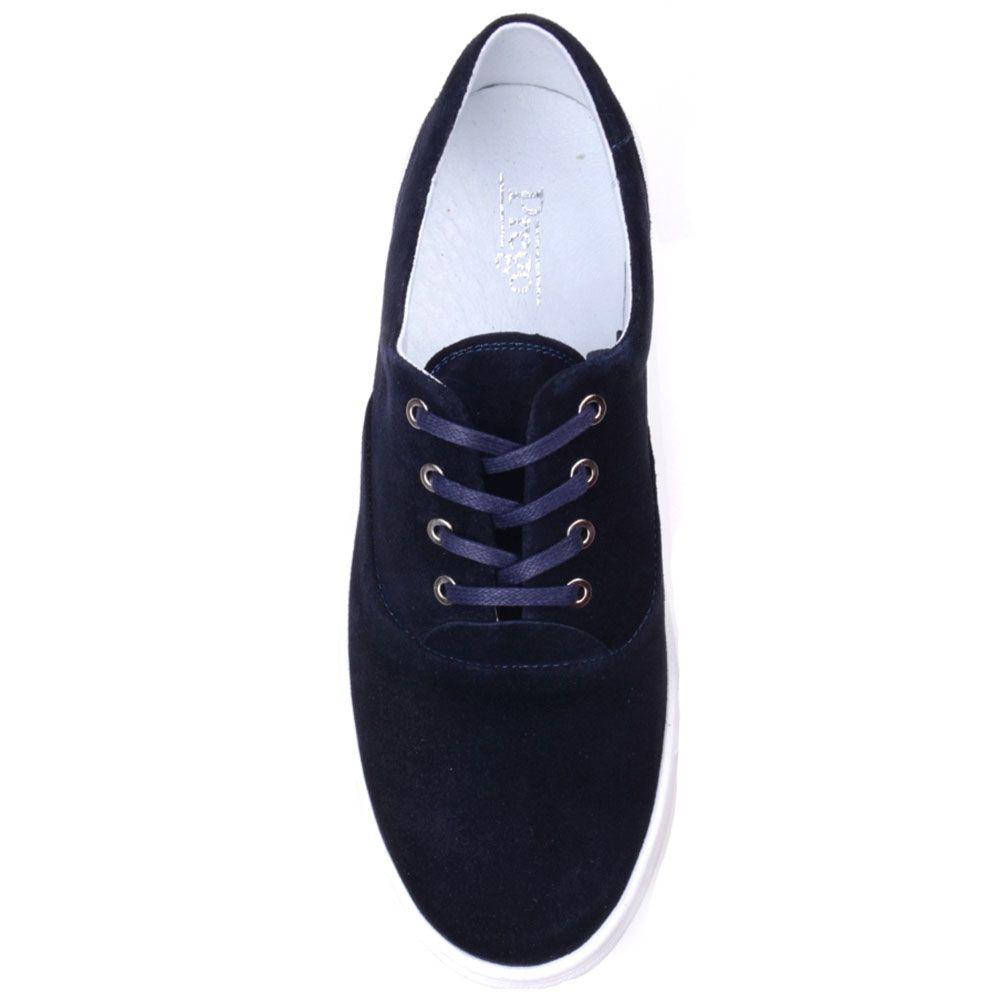 Замшевые кеды Prego синего цвета на белой подошве