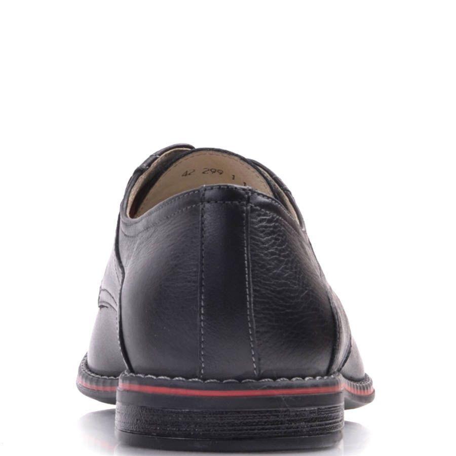 Туфли Prego черного цвета с красными шнурками и красной вставкой вдоль подошвы