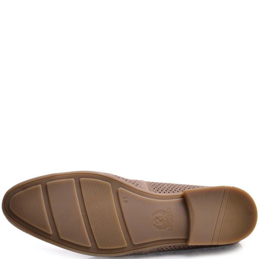 Лоферы Prego коричневого цвета из нубука с перфорацией