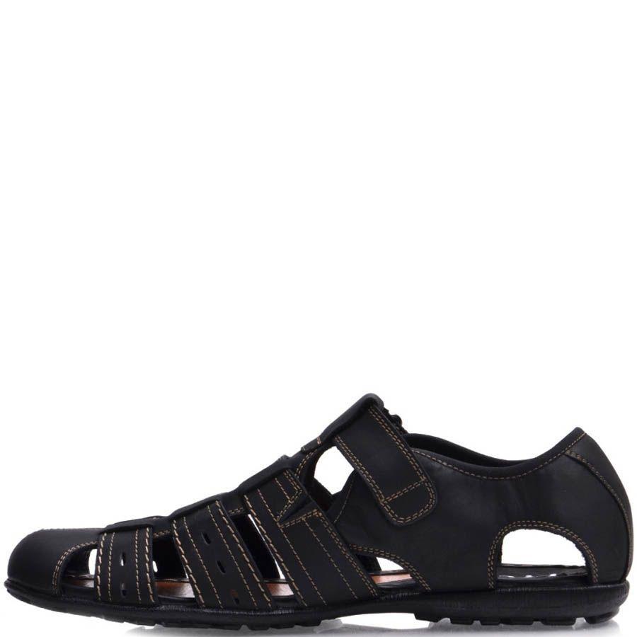 Сандалии Prego спортивные закрытого типа черные