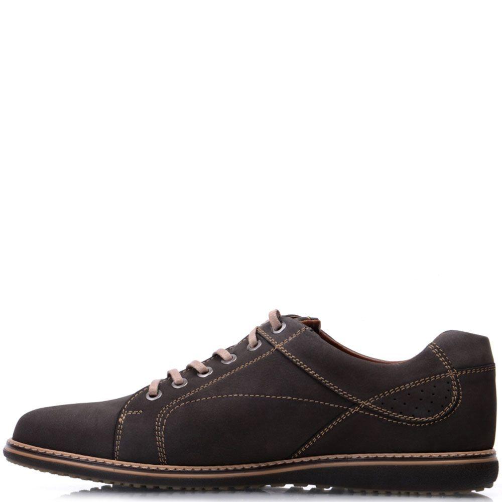 Туфли Prego из натурального нубука коричневого цвета