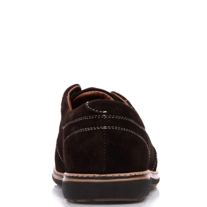 Туфли Prego из натуральной замши коричневого цвета на шнуровке