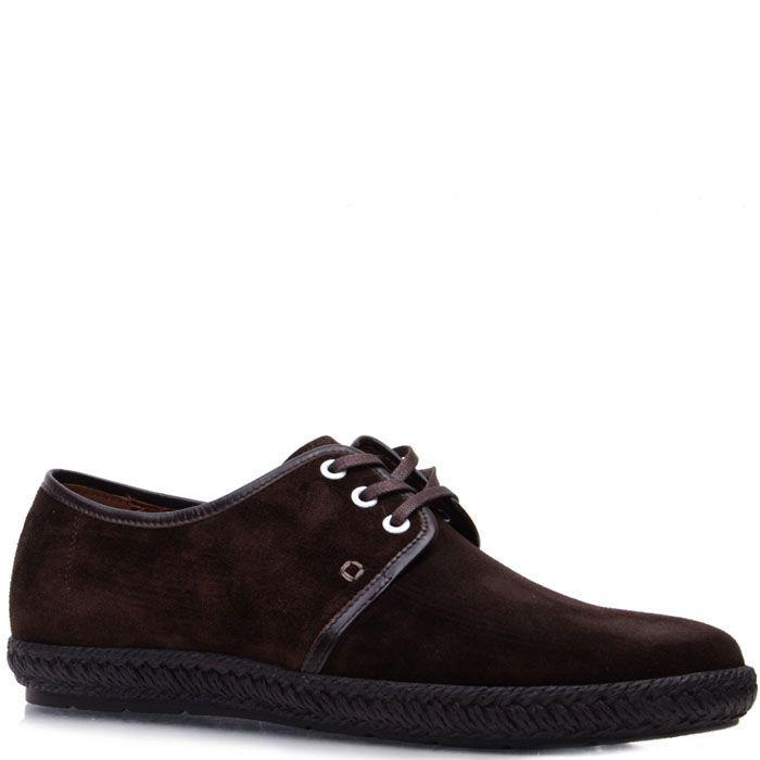 Туфли Prego из натуральной замши коричневого цвета