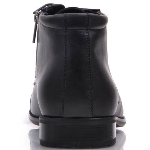 Туфли Prego высокие черного цвета с узким носком и на шнуровке