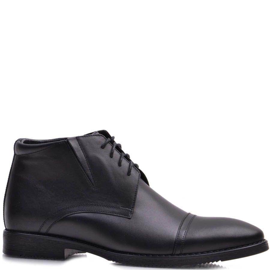 Ботинки Prego зимние высокие черного цвета со строчками поперек носка