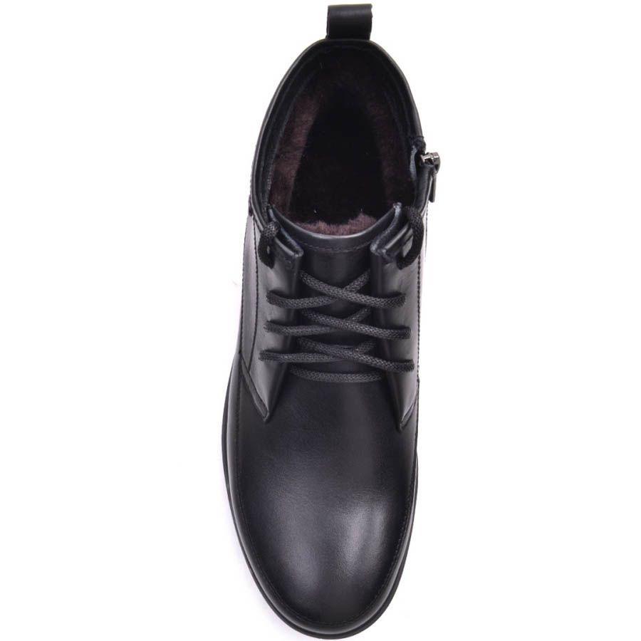 Ботинки Prego зимние высокие черного цвета с зубчастой подошвой