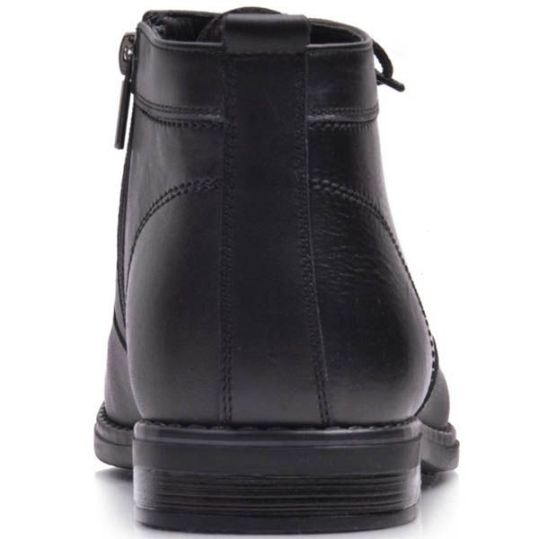 Ботинки Prego зимние черного цвета со вставкой из нубука