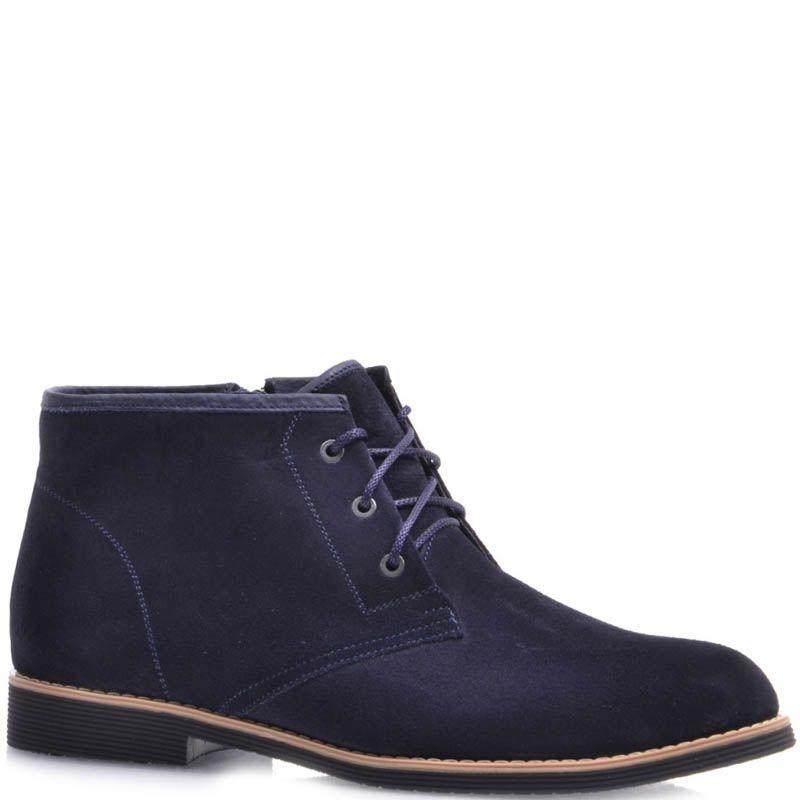 Ботинки Prego зимние на меху замшевые черного цвета с прямым голенищем