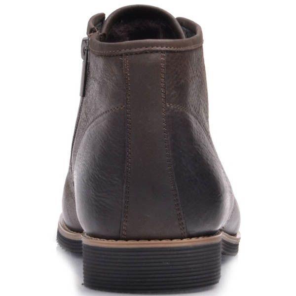 Ботинки Prego зимние коричневого цвета из нубука на шнуровке с боковой молнией