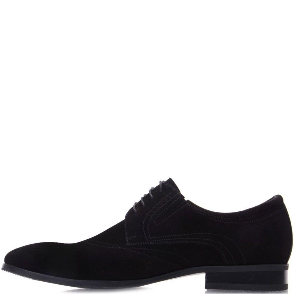 Туфли Prego из натуральной замши черного цвета