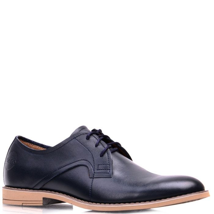 Туфли Prego из натуральной глянцевой кожи синего цвета