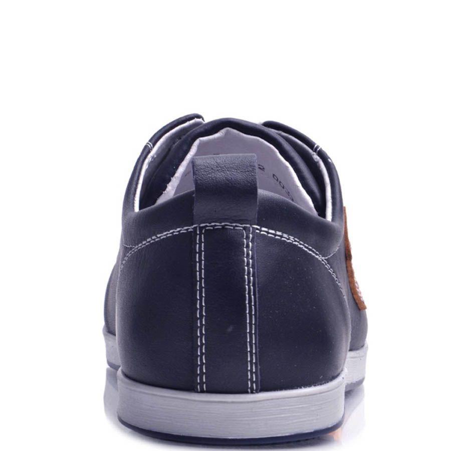 Кеды Prego мужские синего цвета кожаные