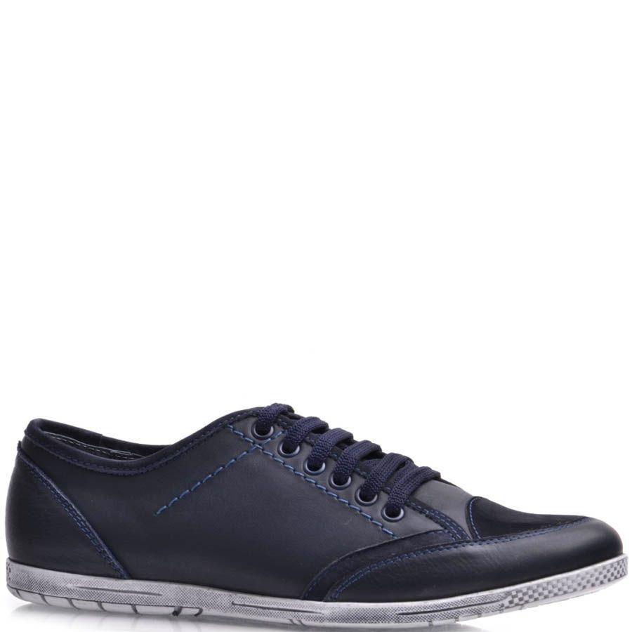 Кеды Prego мужские синего цвета с замшевым носком