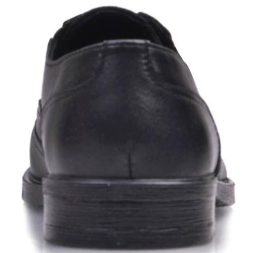 Туфли Prego черного цвета из мягкой матовой кожи