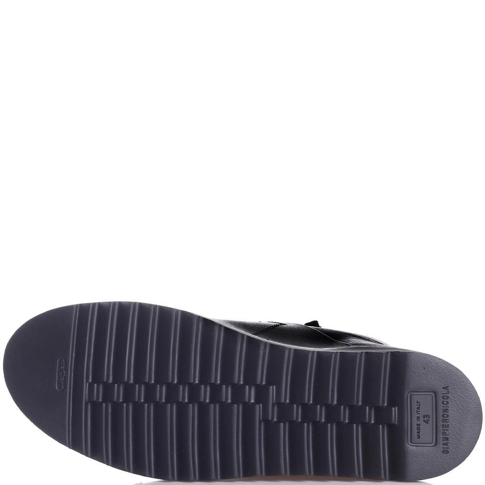 Черные ботинки Giampiero Nicola из кожи с тиснением сафьяно