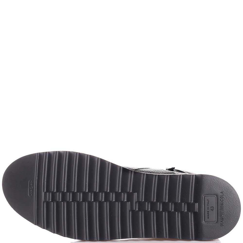 Синие ботинки Giampiero Nicola на толстой подошве