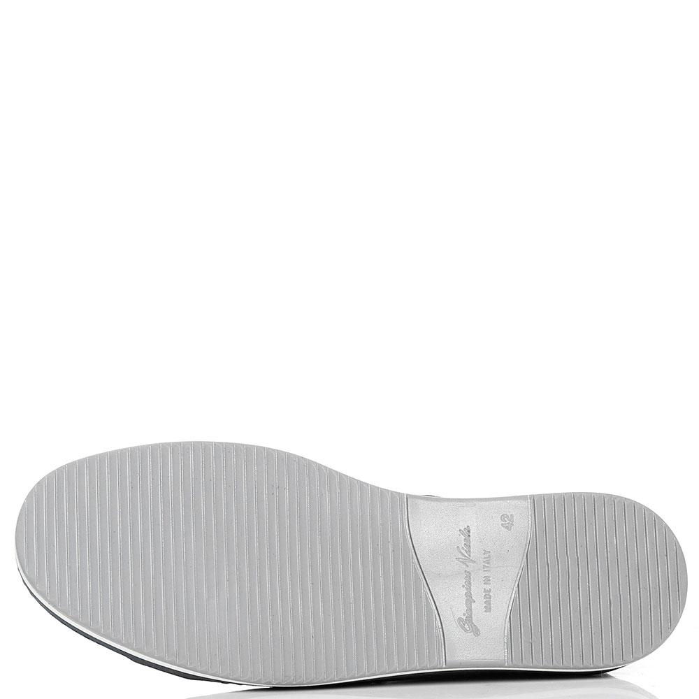 Замшевые кеды Giampiero Nicola со значком