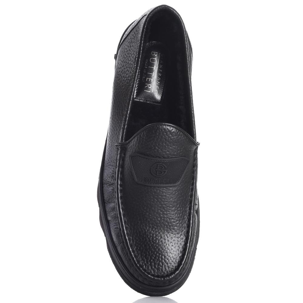 Черные туфли Gianfranco Butteri из зернистой кожи