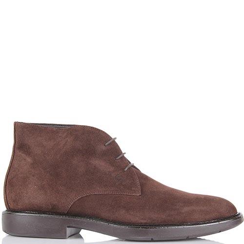 Мужские ботинки Samsonite из натуральной замши коричневого цвета на шнуровке, фото