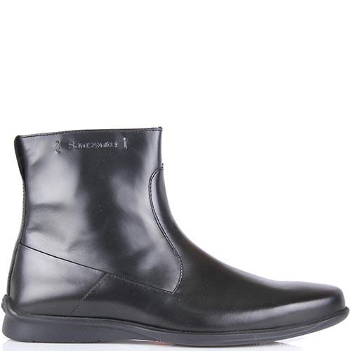 Высокие ботинки Samsonite из натуральной полированной кожи, фото