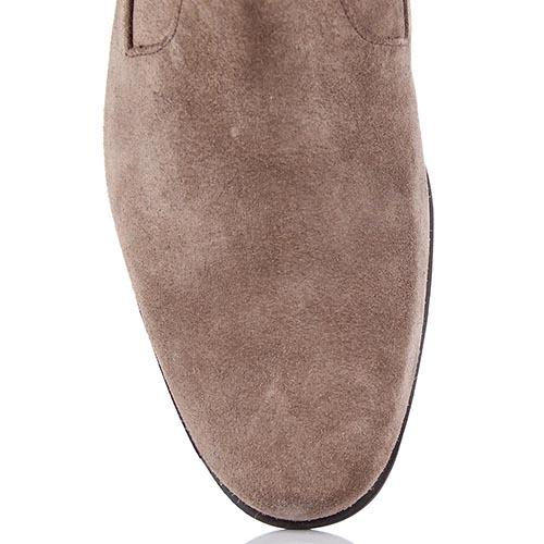 Высокие мужские ботинки Samsonite из натуральной замши бежевого цвета, фото